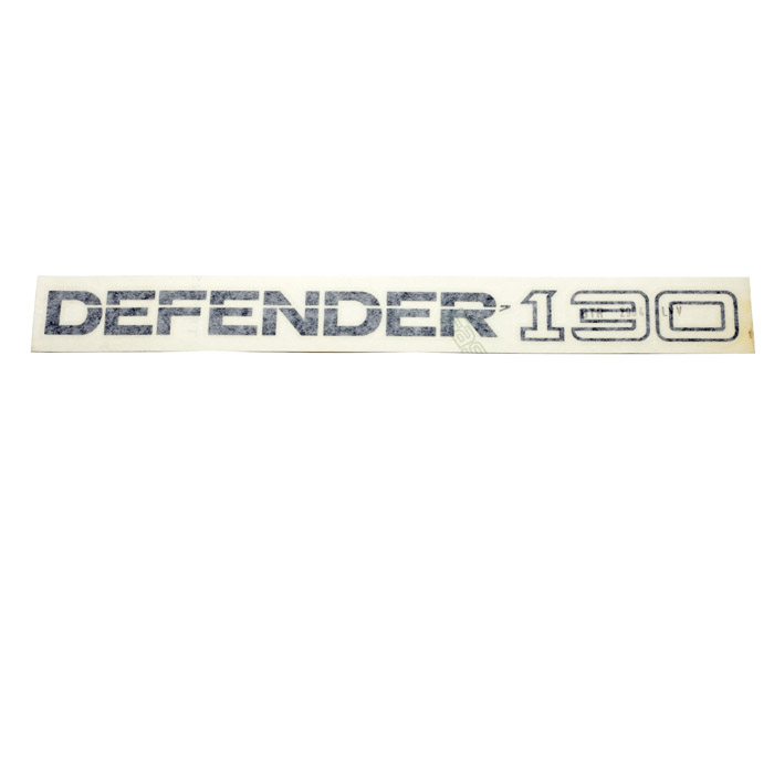 "DECAL ""DEFENDER 130"" REAR CHARCOAL"