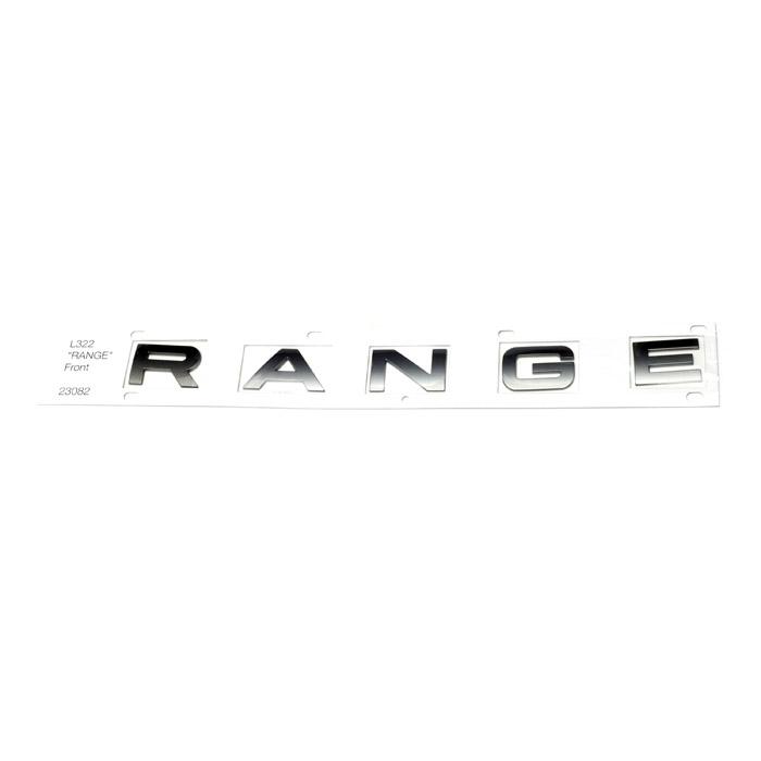 """DECAL BONNET """"RANGE"""" L322 RANGE ROVER 2002-2009"""