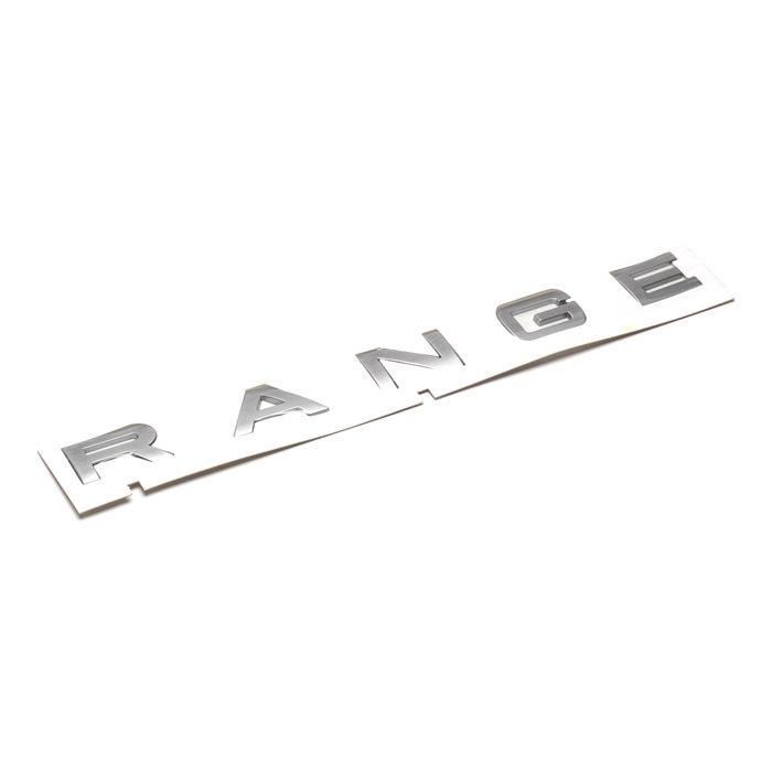 "NAME PLATE FRONT  ""RANGE"" - L320 R/R SPORT TITAN SILVER"