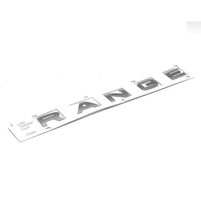 """NAME PLATE """"RANGE"""" L322 BRUNEL MET FRONT"""