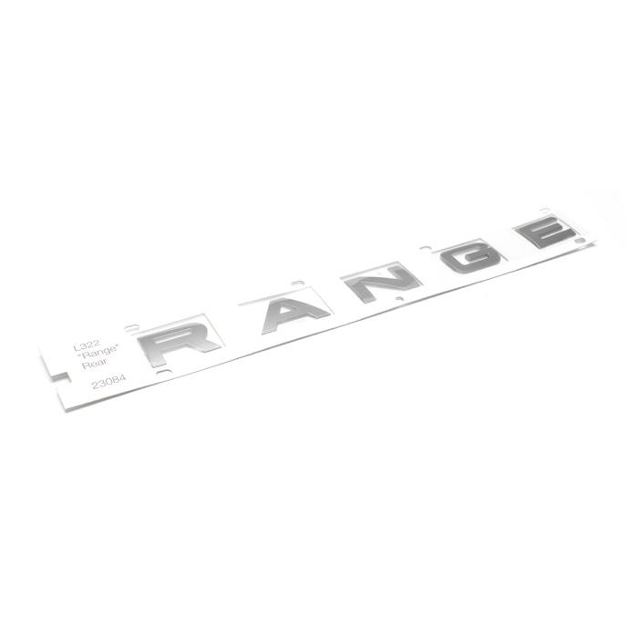 "NAME PLATE ""RANGE"" L322 BRUNEL MET REAR"