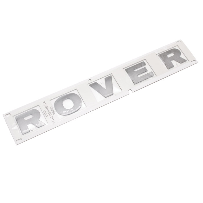 "DECAL BONNET ""ROVER"" DEFENDER 2007+ STYLE  SILVER"