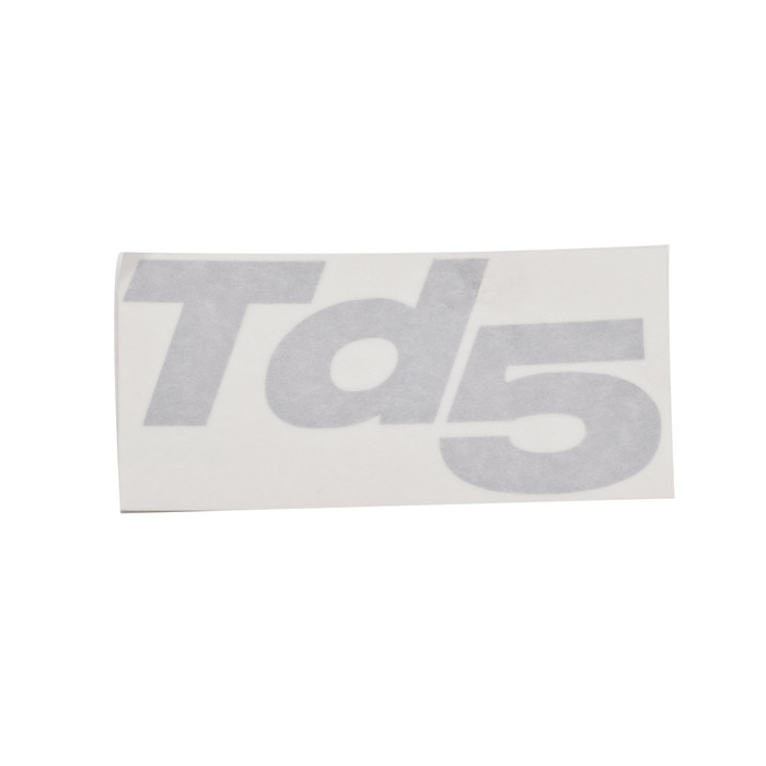 "DECAL ""Td5"" SILVER DEFENDER 90/110 - LOCATED ON LOWER SIDE OF FRONT WING"