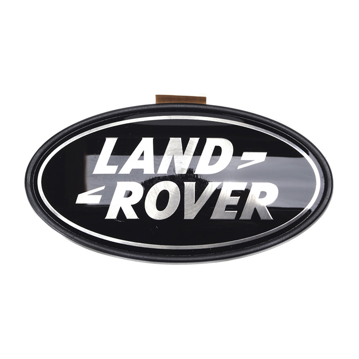 LAND ROVER MOLDED 3D PLASTIC BADGE BLACK and SILVER
