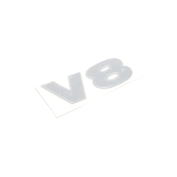 """DECAL """"V8i"""" SILVER TAILDOOR DISCOVERY II"""
