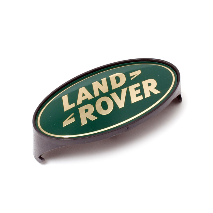 GRILLE BADGE LAND ROVER DEFENDER GREEN & GOLD