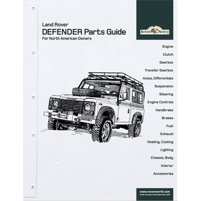 land rover defender parts guide for north american owners rovers rh roversnorth com land rover discovery owners manual land rover defender owners manual 2007