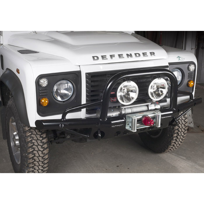 Winch Bumper With Led Lights By Rovers North For Discovery: TUBULAR WINCH BUMPER DEFENDER. EXTENDED, DWB1003