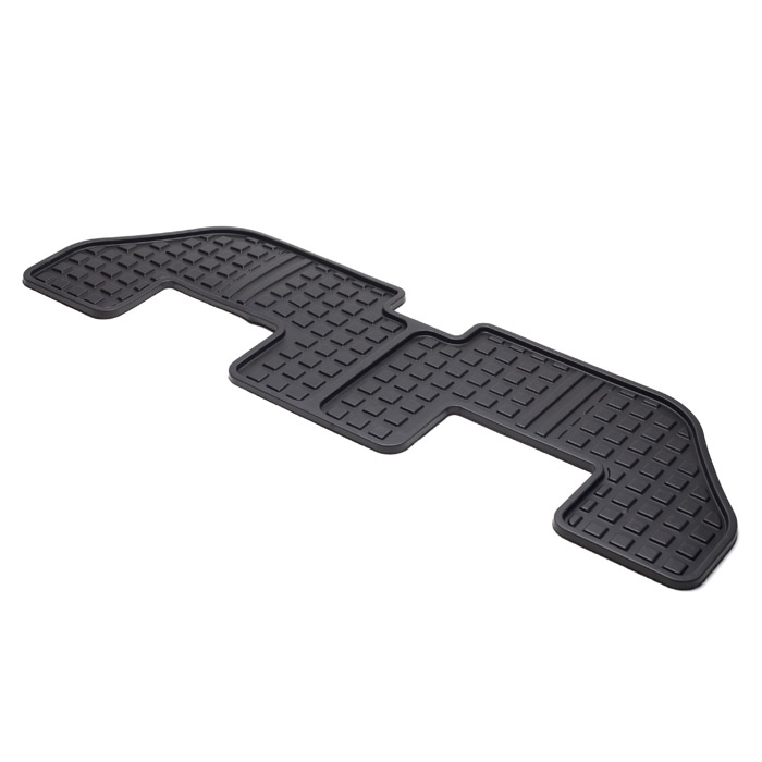 RUBBER MAT 3RD ROW LR3 & LR4 BLACK