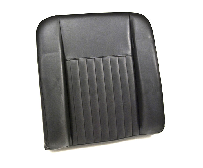 SEAT BACK DELUXE OUTER WITH BOLTS FOR SERIES  - BLACK VINYL