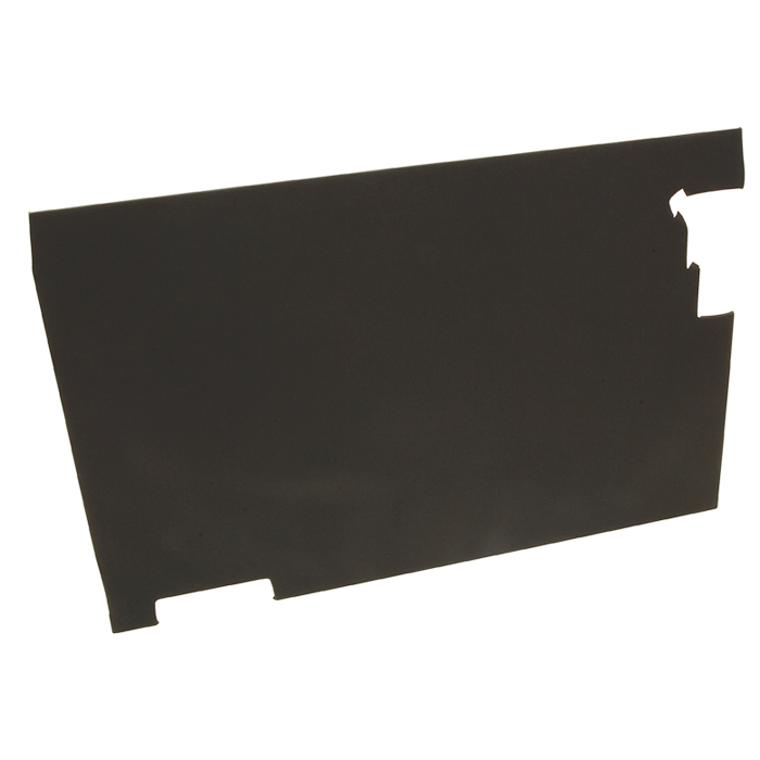 DOOR TRIM REAR END DOOR FOR SERIES II-IIA -BLACK VINYL