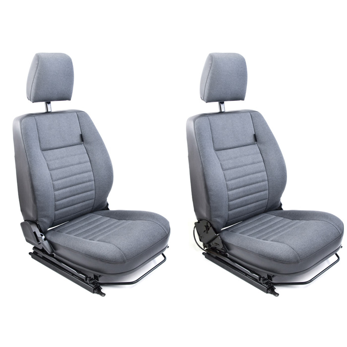 CLASSIC DEFENDER HEATED FRONT SEATS - NAS CAR DENIM VINYL