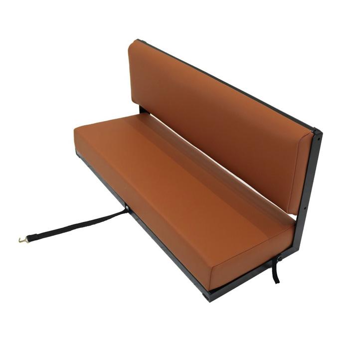 REAR SIDE BENCH SEAT  - BLACK FRAME - OXFORD TAN VINYL