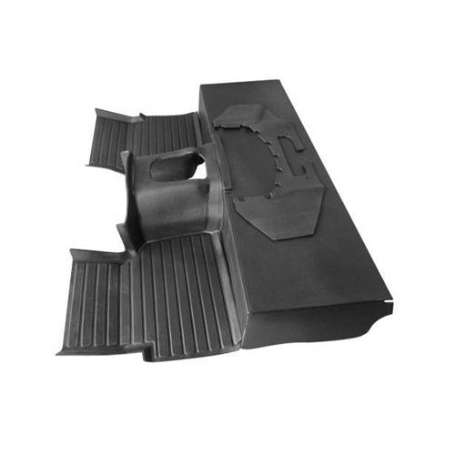 MOULDED MATTING SYSTEM 3-PIECE DEFENDER V-8 LHD or RHD, BLACK