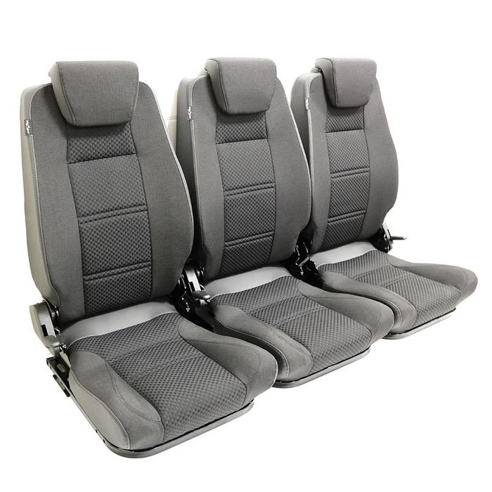 PREMIUM HIGH BACK 2ND ROW SEAT - FULL SEAT SET - BLACK SPAN MONDUS