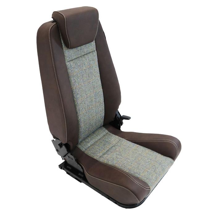 PREMIUM HIGH BACK 2ND ROW SEAT - LEFT HAND - HARRIS TWEED