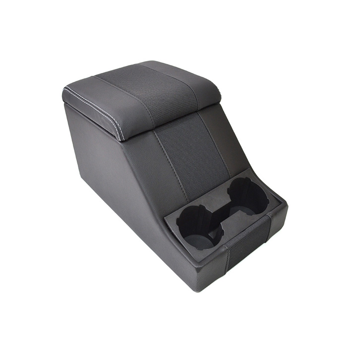 PREMIUM CUBBY BOX - DEFENDER AND SERIES - XS BLACK RACK LEATHER