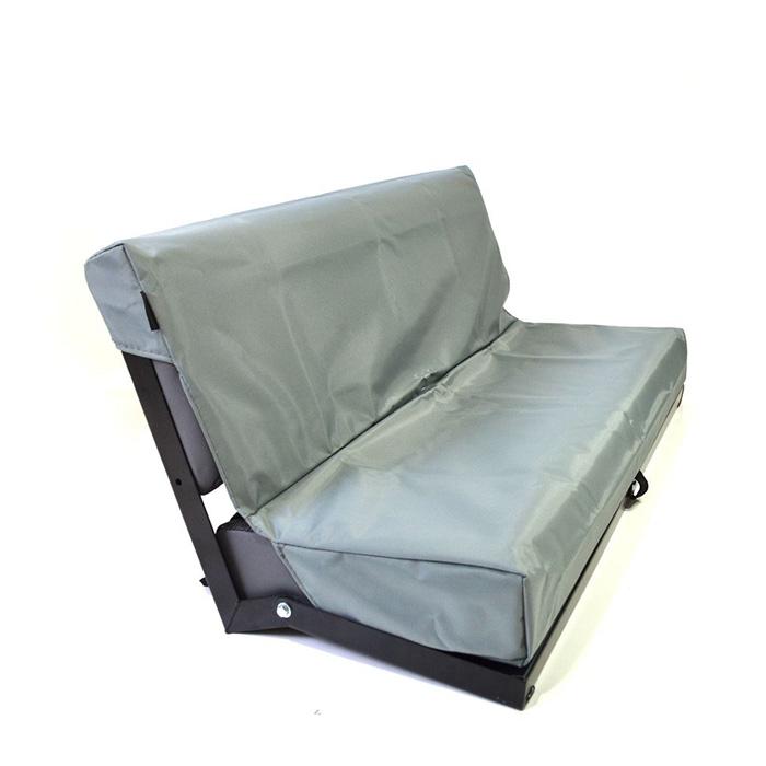 NYLON WATERPROOF SEAT COVER REAR 2-MAN BENCH SEAT SERIES-DEFENDER GREY