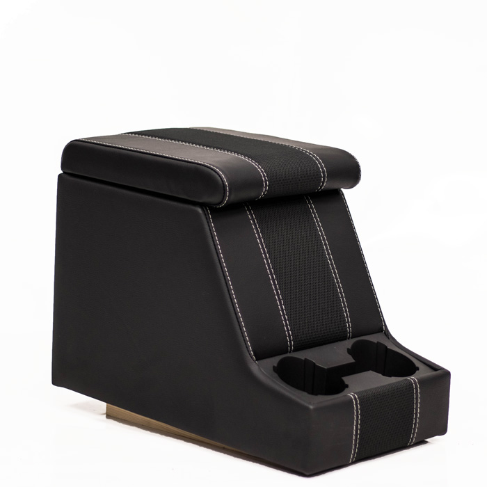 PREMIUM XL CUBBY BOX - DEFENDER AND SERIES - BLACK XS BLACK RACK HALF LEATHER