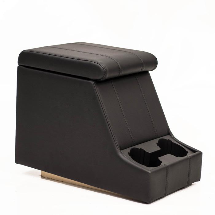 PREMIUM XL CUBBY BOX - DEFENDER AND SERIES - BLACK XS VINYL WITH BLACK STITCH