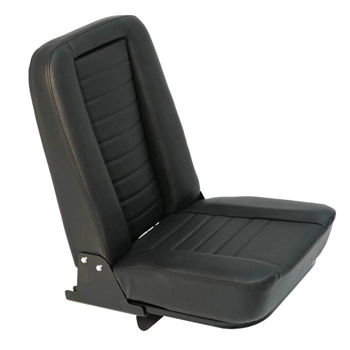 INWARD FOLD-UP SEAT - BLACK LEATHER