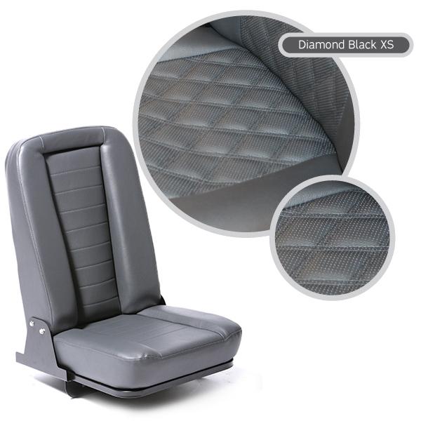 INWARD FOLD UP SEAT - DIAMOND BLACK XS