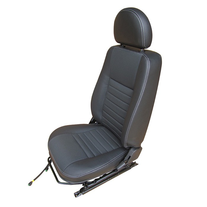 FRONT PUMA SEAT ASSEMBLY WITH ADJUSTABLE FRAME, LEFT HAND - XS BLACK RACK