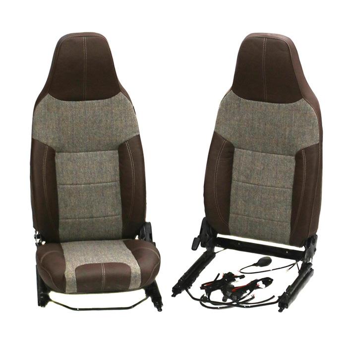 PREMIUM FRONT SEAT SET PUMA WITH HEAT IN HARRIS TWEED