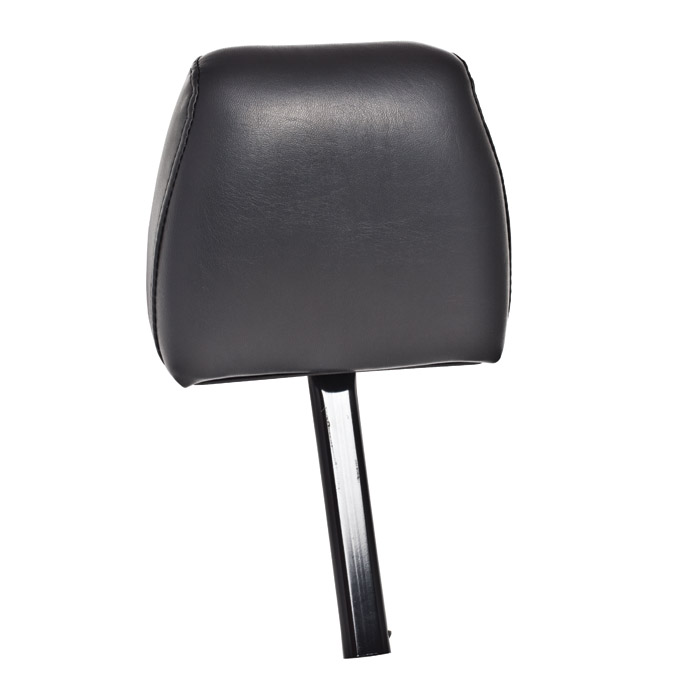 FRONT DEFENDER HEADREST, DRIVER OR PASSENGER SIDE IN BLACK VINYL