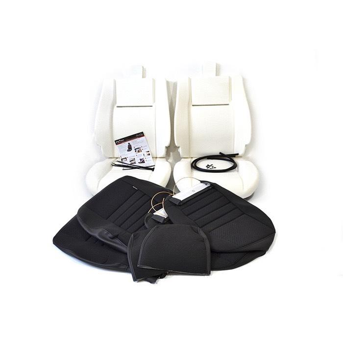 PAIR FRONT SEAT RETRIM KIT - BLACK SPAN MONDUS CLOTH