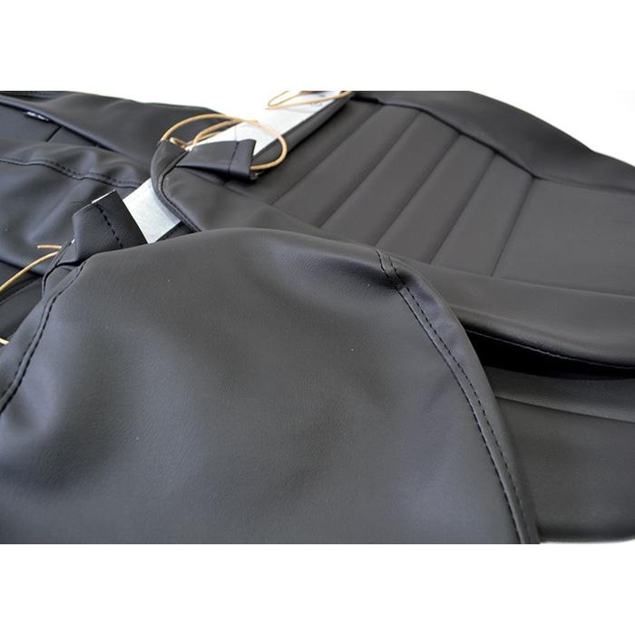PAIR FRONT SEAT RETRIM KIT - BLACK VINYL