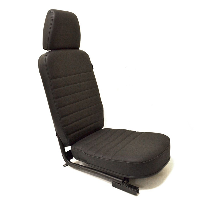 FRONT CENTER SEAT - WITH HEADREST - BLACK LEATHER
