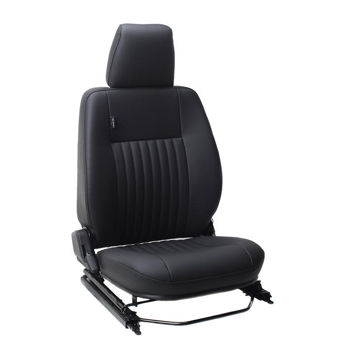 CLASSIC DEFENDER HEATED FRONT SEATS - CLASSIC FLUTE BLACK VINYL