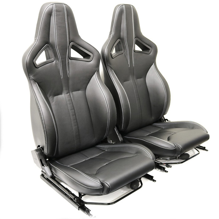 ELITE SPORTS SEATS - XS BLACK RACK 1/2 LEATHER