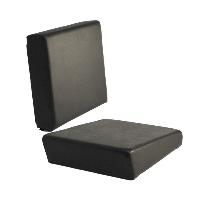 SINGLE SEAT BACK AND SEAT BASE SET FOR 2ND ROW 109 -BLACK VINYL