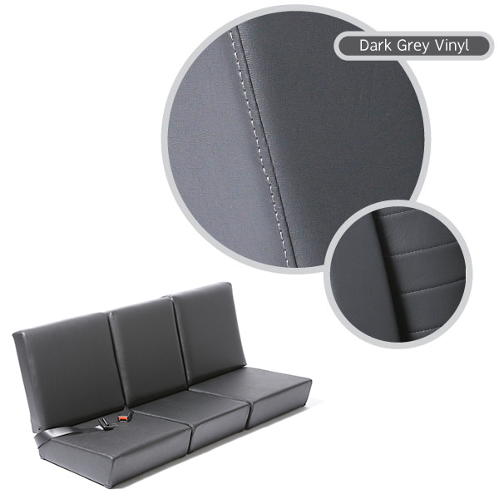 STANDARD FRONT SEAT SET, DARK GREY VINYL, SERIES II-III