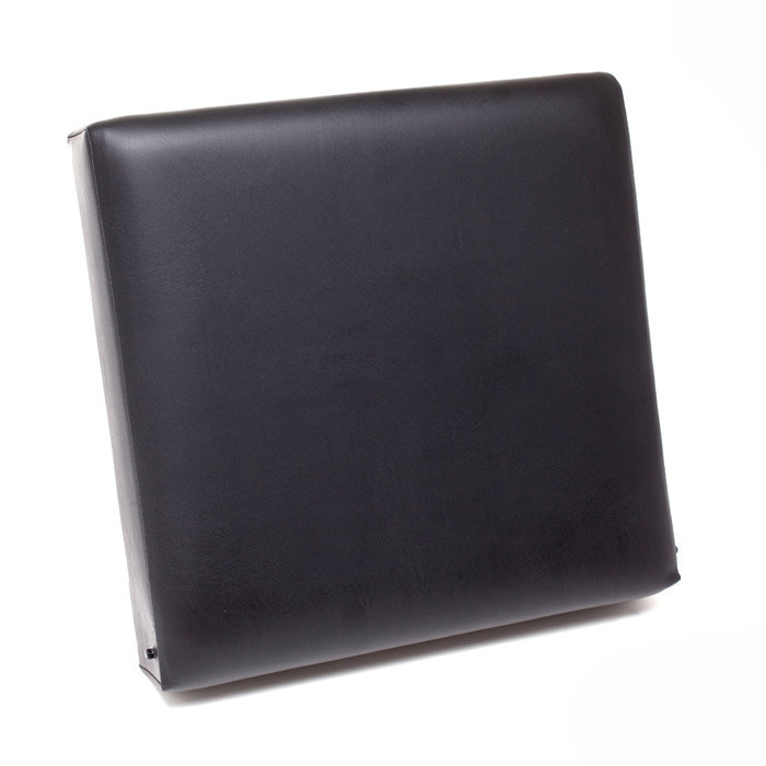 SEAT CUSHION FRONT OUTER BACK SERIES II-III - BLACK VINYL WITH ORIGINAL STYLE ATTACHMENT PINS