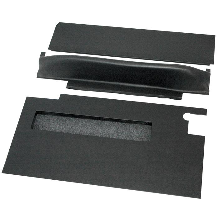 FRONT DOOR TRIM SET WITH POCKETS SERIES - BLACK VINYL