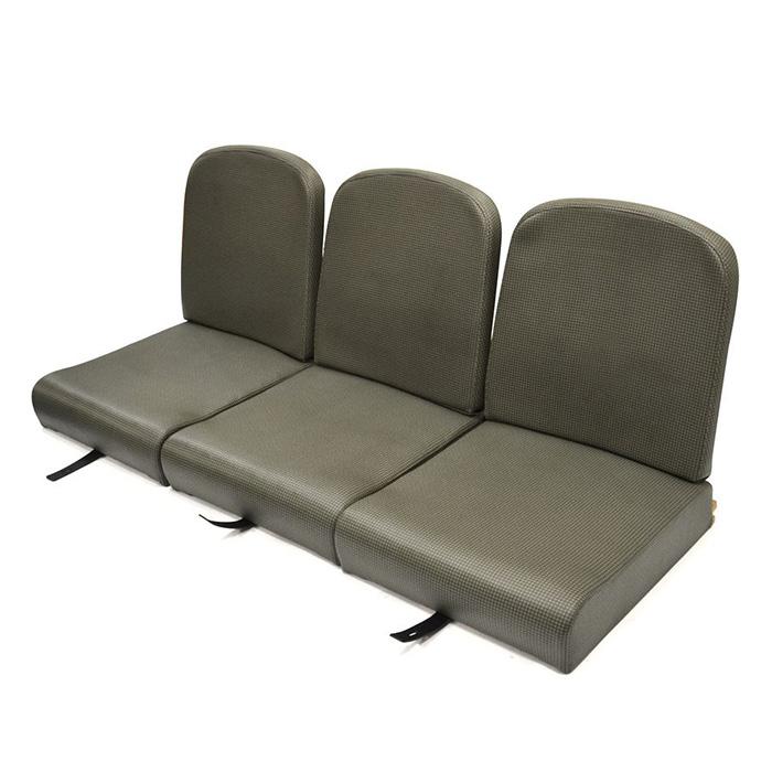 "SERIES I 86"" STYLE BACK FULL FRONT SEAT SET CHECK VINYL"
