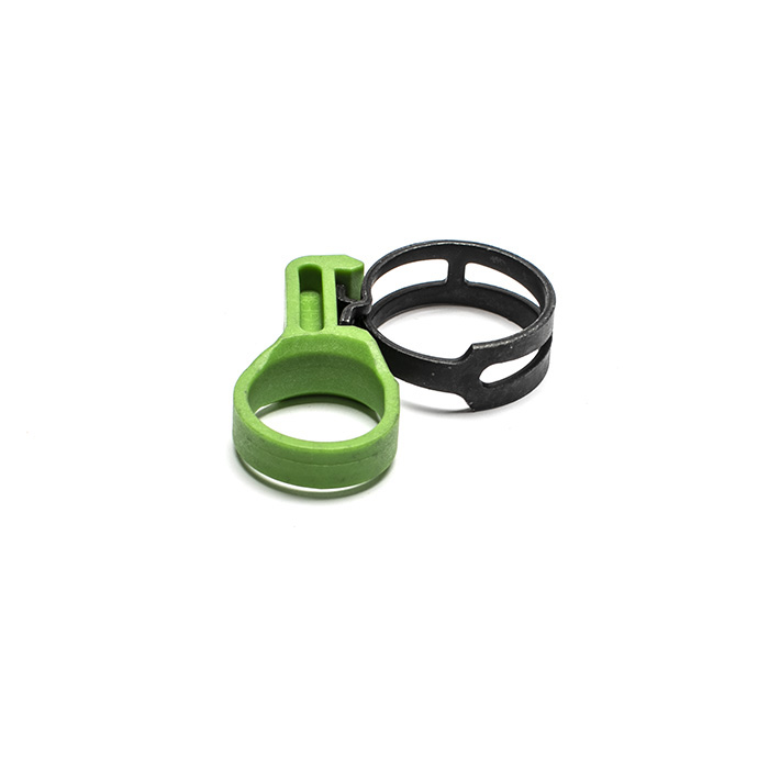 HOSE CLAMP FLAT SPRING GREEN