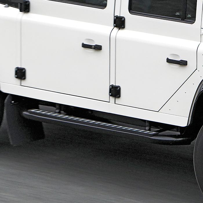 Deployed Side Steps For Range Rover Genuine Accessory: Tubular Side Runner Set Defender 110