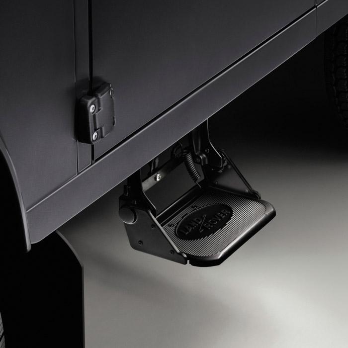 Deployed Side Steps For Range Rover Genuine Accessory: SIDE FOLDING STEP DEFENDER NEW STYLE , RNS588, LR020614
