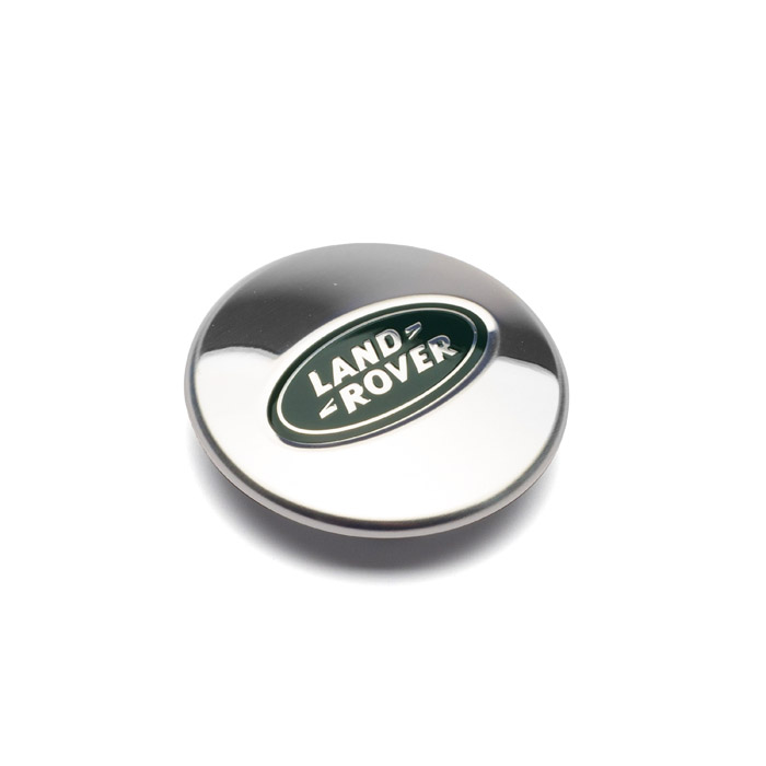 CAP WHEEL CENTER POLISHED GREEN/SILVER