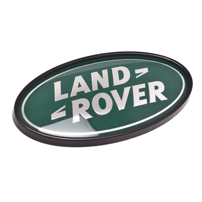 "BADGE ""LAND ROVER"" SILVER & GREEN"