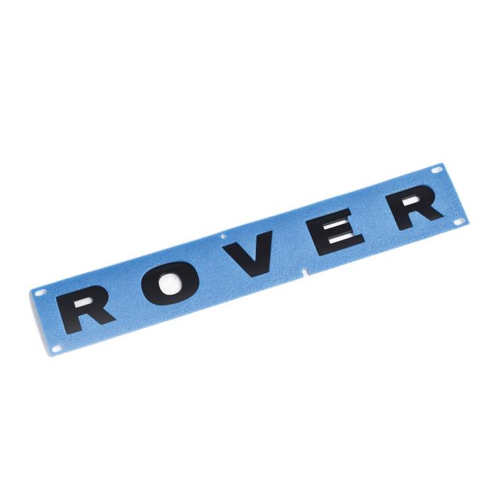 """DECAL """"ROVER"""" DEFENDER BONNET GLOSS BLK"""