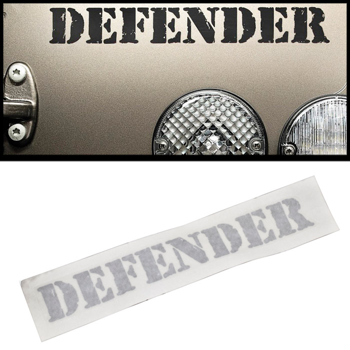 "DECAL ""DEFENDER"" REAR TITAN"