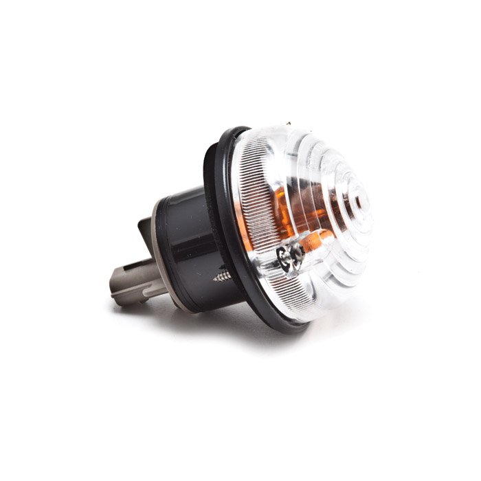 CLEAR  FRONT DIRECTIONAL LAMP ASSEMBLY WITH AMBER BULB - GENUINE