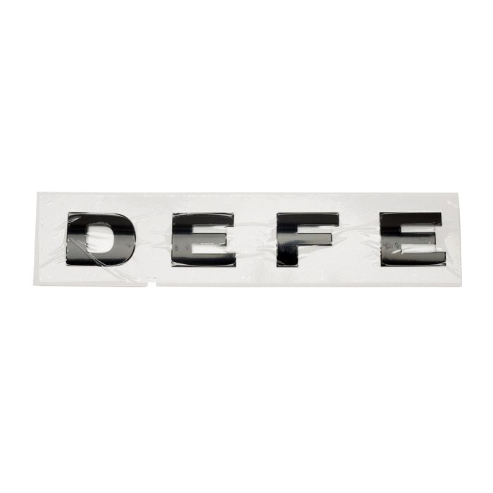 NAME PLATE BONNET - DEFE- GLOSS BLACK DEFENDER FROM (V)FA000001
