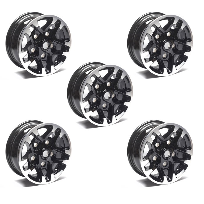 LIMITED EDITION ALLOY WHEEL 7.0 x 16 BLACK PAINTED SET OF 5