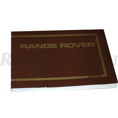 OWNERS MANUAL 1986-1988 RANGE ROVER